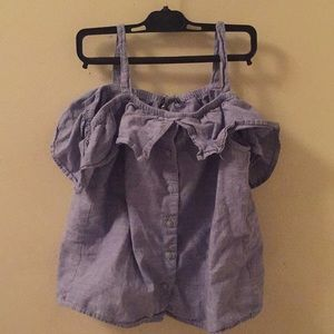 shoulder less shirt 👚